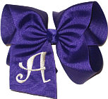 Regal Purple and White Monogrammed Initial