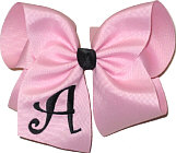 Light Pink and Black Monogrammed Initial
