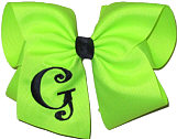 Neon Lime and Black Monogrammed Initial