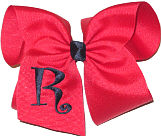 Red and Navy Monogrammed Initial