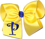 Maize with Century Blue Initial Monogrammed Initial