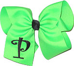 Neon Green with Black Initial Monogrammed Initial