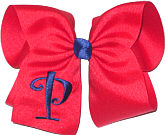 Red with Century Blue Initial Monogrammed Initial