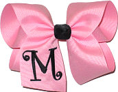 Pink and Black Monogrammed Initial