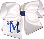 White with Century Blue Initial Monogrammed Initial