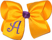 Yellow Gold and Purple Monogrammed Initial