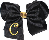 Black and Metallic Gold Monogrammed Initial
