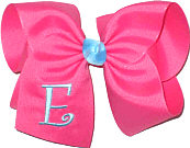 Hot Pink with Mystic Blue Initial Monogrammed Initial