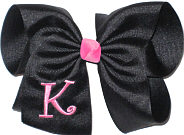 Black with Hot Pink Initial Monogrammed Initial