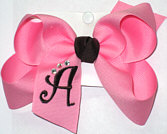 Pink and Brown Monogrammed Initial