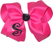 Shocking Pink and Black Monogrammed Initial