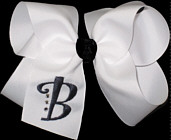 White and Black Monogrammed Initial