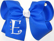 Electric Blue and White Monogrammed Initial