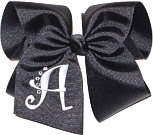 Black and White Monogrammed Initial