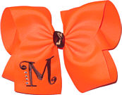 Neon Orange and Brown Monogrammed Initial