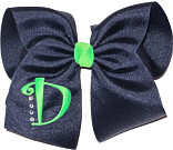 Navy and Neon Green Monogrammed Initial