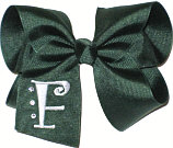 Evergreen and White Monogrammed Initial