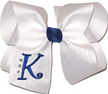 Century Blue and White Monogrammed Initial