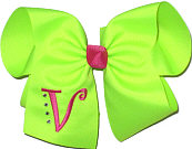 Neon Lime and Shocking Pink Monogrammed Initial