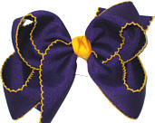 Large Moonstitch Bow Regal Purple and Yellow Gold