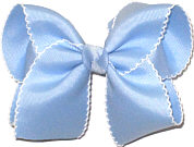 Large Moonstitch Bow Millenum Blue and White