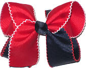 Large Moonstitch Bow Red White and Navy