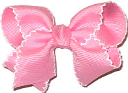 Toddler Moonstitch Bow Pink and White
