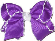 Toddler Moonstitch Bow Grape and White