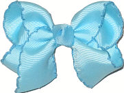 Toddler Moonstitch Bow Ocean Blue and Blue