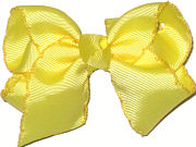 Toddler Moonstitch Bow Lemon and Maize