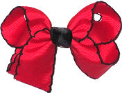 Medium Moonstitch Bow Red and Black