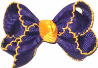Small Moonstitch Bow Regal Purple and Yellow Gold