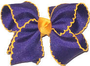 Toddler Moonstitch Bow Regal Purple and Yellow Gold