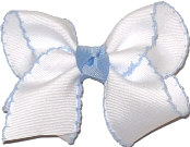 Toddler Moonstitch Bow Millenium Blue and White
