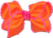 Orange and Shocking Pink Moonstitch