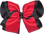 Red and Black Large Double Layer Bow