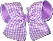 Light Orchid and White over Light Orchid Large Double Layer Bow