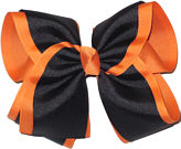 Burnt Orange and Black MEGA Extra Large Double Layer Bow