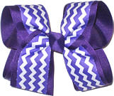 Regal and White Large Double Layer Bow