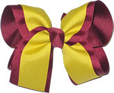 Jungle Yellow and Beet Large Double Layer Bow
