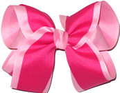 Pink and Shocking Pink Large Double Layer Bow
