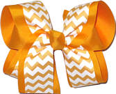 Large Yellow Gold and White School Bow