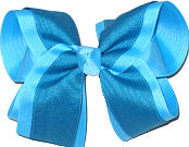 Mystic Blue and Sapphire Large Double Layer Bow