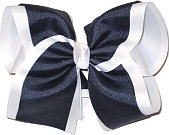 MEGA Navy and White School Bow
