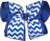 MEGA Century Blue and White School Bow
