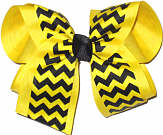 Black and Maize Large Double Layer Bow