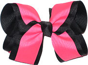 Black and Tutti Fruiti Large Double Layer Bow