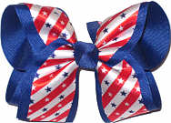 Large Stars and Stripes Overlay Large Double Layer Bow