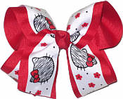 Hello Kitty over Red Large Double Layer Bow