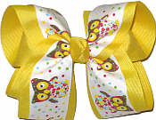 Owl Pring over Maize Large Double Layer Bow